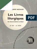 Michaud Les Livres Liturgiques 1961