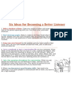 Six Ideas for Becoming a Better Listener
