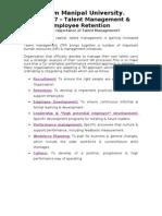 Talent Management Assignment 0017