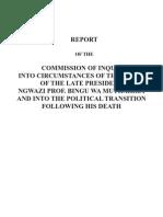 Full Inquiry Report Into Bingu Wa Mutharika's Death