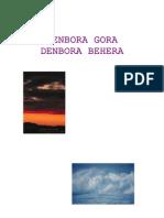 Unitate Didaktikoa - Denbora Gora Denbora Behera