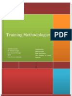 Report Training Methodologies