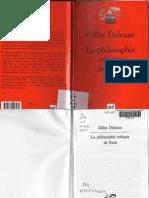 Gilles Deleuze . La philosophie critique de Kant