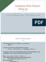 Akar Persamaan Non-Linear (Part 3)