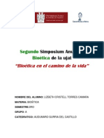 Segundo Simposium Anual de Bioètica de la ujat