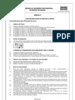 Prova Certificação Interna BB 2006 Prova 3 Inepad