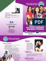 Citizen-Voter Education for the Women Sector