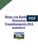 Heinz von Heiden für Deutschen Traumhauspreis 2013 nominiert PDF