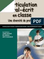 L'articulation oral-écrit en classe , Une diversité de pratique