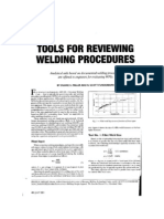 Tools for Reviewing Welding Procedures