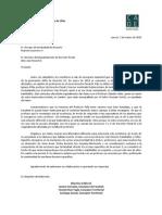 Carta Decano y Van Weezel