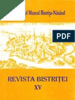 Revista Bistritei XV 2001