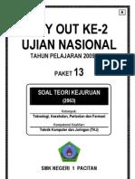 Soal UN (TryOut) Ujian Nasional SMK Teori Kejuruan TKJ - A