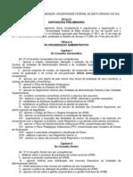 REGIMENTO GERAL DA FUNDAÇÃO UNIVERSIDADE FEDERAL DE MATO GROSSO DO SUL