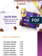 Ethical and Unethical Practices by Choclate Industry