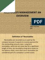 Receivabbles Management an Overview