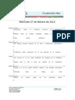 Guatemala Hoy 2013-02-27