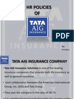 HR Policy Edited of TATA AIG