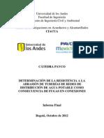 2.DETERMINACIÓN DE LA RESISTENCIA A LA ABRASIÓN DE TUBERÍAS DE REDES DE DISTRIBUCIÓN DE AGUA POTABLE COMO CONSECUENCIA DE FUGAS EN CONEXIONES