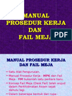 Manual Prosedur Kerja & Fail Meja