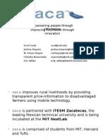 zaca MIT $100K Executive Summary Presentation
