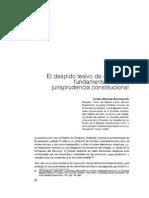 El Despido Lesivo de Derechos Fundamentales en La Jurisprudencia Constitucional - BLANCAS, Carlos