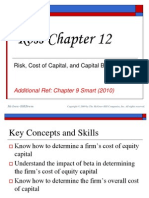 Topic 6 Supplement (Cost of Capital, Capital Structure and Risk)