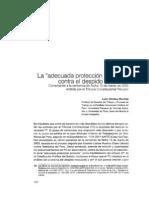 La Adecuada Proteccion Procesal Contra El Despido Arbitrario - VINATEA, Luis