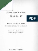 Egloga IV - Virgilio - Latín-Castellano