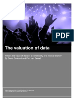 What's the value of data of a community of a Festival brand?