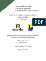 9.Modelación numérica del flujo supercrítico en cámaras de inspección para sistemas de alcantarillado