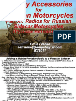 Part XI Radios for Russian Motorcycles