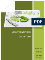 Advanced Analytics-Green Team Book