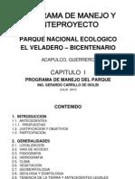 Programa de Manejo El Veladero Iniciativa Mexico2
