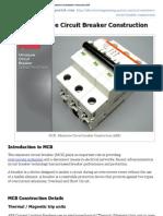 MCB - Miniature Circuit Breaker Construction _ EEP