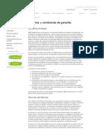 QNAP Terminos y Condiciones de Garantia