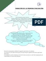 SESIÓN DE PREPARACIÓN DE LA PRIMERA EVALUACIÓN