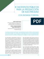Incentivos_Biomasa Forestal_Producción Electricidad_Galicia