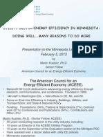 Utility Sector Energy Efficiency in Minnesota [ACEEE]