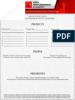 1-Page Productivity Planner