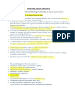 long term effects rating sheet 20112