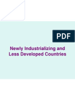 newlyindustrializingandlessdevelopedcountries