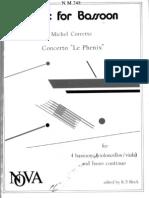 Michel Corrette, Concerto Le Phenix, 4 bassoons