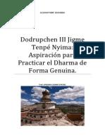 Dodrupchen Jigme Tenpé Nyima Aspiración para Practicar el Dharma