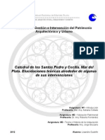 Catedral de los Santos Pedro y Cecilia. Mar del Plata. Elucidaciones teóricas alrededor de algunas de sus intervenciones (2012) - Gudefin, L.