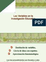 Variables e Investigacion