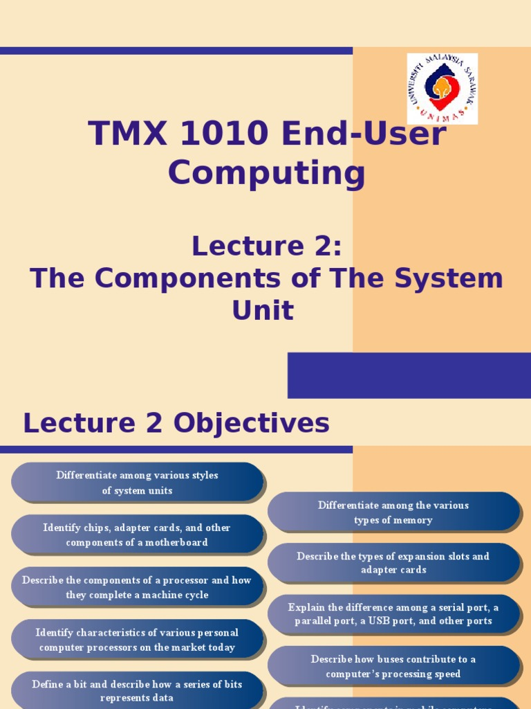 Lecture 2 The Components Of System Unit Central Processing Computer Ram Chips With Binary Code A Circuit Board Memory Usb