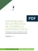 Sostenibilidad en los Procesos de Desarrollo Económico Local, conceptos claves y análisis de casos, BID