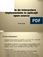 Florin Iosub Metode Interpolare