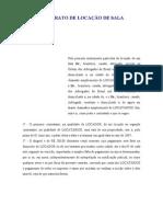MODELO CONTRATO DE LOCAÇÃO DE SALA